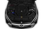 Car Stock 2019 Mercedes Benz S-Class - 2 Door Convertible Engine  high angle detail view