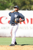 March 17th 2008:  Alberto Gonzalez of the New York Yankees during a Spring Training game at Legends Field in Tampa, FL.  Photo by:  Mike Janes/Four Seam Images