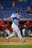 Charlotte Stone Crabs catcher Nick Ciuffo (14) at bat during a game against the Clearwater Threshers on April 12, 2016 at Bright House Field in Clearwater, Florida.  Charlotte defeated Clearwater 2-1.  (Mike Janes/Four Seam Images)