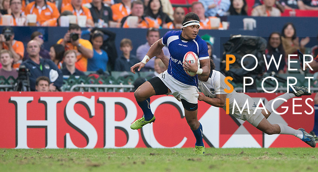 Action on Day 3 of the 2012 Cathay Pacific / HSBC Hong Kong Sevens at the Hong Kong Stadium in Hong Kong, China on 25th March 2012. Photo © Manuel Queimadelos  / The Power of Sport Images