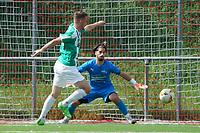 Nils Beisser (Gross-Gerau) scheitert an Stefano Francisco (Büttelborn) - 15.08.2021 Büttelborn: SKV Büttelborn vs. VfR Groß-Gerau, Gruppenliga