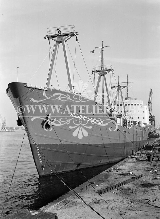 September 1965. Ship Hugo Oldendorf in de haven van Antwerpen.
