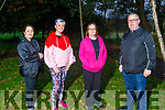 "Margaret Foley , Siobhan Dowling, Doireann Buckley and Harry Slemon getting ready to walk from Moyvane to UHK Tralee on Saturday October 24th to walk 23 miles for ""Not all Wounds are Visible"" Mental Health Awareness."