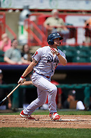 Reading Fightin Phils pinch hitter Kyle Martin (33) follows through on a swing during a game against the Erie SeaWolves on May 18, 2017 at UPMC Park in Erie, Pennsylvania.  Reading defeated Erie 8-3.  (Mike Janes/Four Seam Images)
