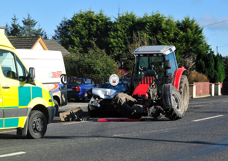 The scene of Friday's accident on the Tulla Road. Photograph by Declan Monaghan