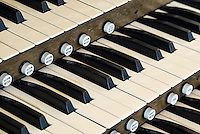 Church organ keys.