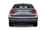 Straight rear view of 2017 Volkswagen Passat R-Line 4 Door Sedan Rear View  stock images