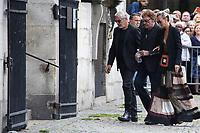 JOHNNY HALLYDAY, LAETICIA HALLYDAY - LES OBSEQUES DE MIREILLE DARC A PARIS, FRANCE, LE 01/09/2017.
