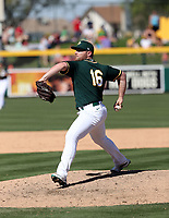 Liam Hendriks - Oakland Athletics 2020 spring training (Bill Mitchell)