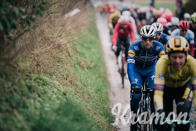 Zdeněk ŠTYBAR (CZE/Deceuninck-Quick Step) over the cobbles of the Holle Weg<br /> <br /> 71th Kuurne-Brussel-Kuurne 2019 <br /> Kuurne to Kuurne (BEL): 201km<br /> <br /> ©kramon