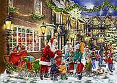 Interlitho-Franco, CHRISTMAS SANTA, SNOWMAN, WEIHNACHTSMÄNNER, SCHNEEMÄNNER, PAPÁ NOEL, MUÑECOS DE NIEVE, paintings+++++,xmas street,KL6187,#x# ,puzzle,puzzles