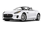 Stock pictures of low aggressive front three quarter view of 2019 Jaguar F-Type - 2 Door Convertible Low Aggressive
