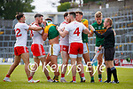 A tussle between players during the Allianz Football League Division 1 Semi-Final, between Tyrone and Kerry at Fitzgerald Stadium, Killarney, on Saturday.