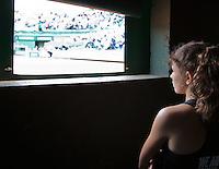 France, Paris , May 26, 2015, Tennis, Roland Garros, ballgirl<br /> Photo: Tennisimages/Henk Koster
