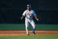 Franklin Correa (29) of the Kingsport Mets takes his lead off of second base against the Danville Braves at American Legion Post 325 Field on July 9, 2016 in Danville, Virginia.  The Mets defeated the Braves 10-8.  (Brian Westerholt/Four Seam Images)
