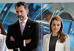 Princes Felipe and Letizia of Spain while visiting pharmaceutical laboratories Cinfa.June 06,2013. (ALTERPHOTOS/Acero)