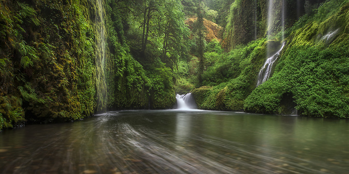 """The """"weeping walls"""" deep in the heart of Oregon's Columbia Gorge."""