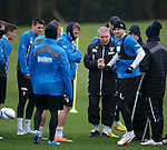 Ally McCoist with his men at training