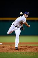 Montgomery Biscuits relief pitcher Brad Schreiber (29) delivers a pitch during a game against the Mississippi Braves on April 24, 2017 at Montgomery Riverwalk Stadium in Montgomery, Alabama.  Montgomery defeated Mississippi 3-2.  (Mike Janes/Four Seam Images)