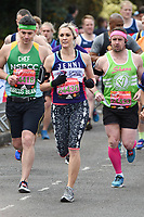 Jenni Falconer<br /> at the start of the 2017 London Marathon on Blackheath Common, London. <br /> <br /> <br /> ©Ash Knotek  D3253  23/04/2017