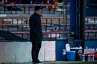 17th April 2021; Kenilworth Road, Luton, Bedfordshire, England; English Football League Championship Football, Luton Town versus Watford;  Xisco Muñoz the Watford manager looks frustrated on the touchline.