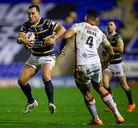 13th November 2020; The Halliwell Jones Stadium, Warrington, Cheshire, England; Betfred Rugby League Playoffs, Catalan Dragons versus Leeds Rhinos; Ava Seumanufagai of Leeds Rhinos with the ball
