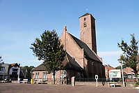 Nederland  Wijk aan Zee. 2019.  De hervormde Dorpskerk van Wijk aan Zee te Wijk aan Zee in Noord-Holland is gebouwd rond 1420. De kerk is eigendom van de protestantse PKN gemeente Beverwijk-Wijk aan Zee.  De Odulfuskerk. Foto Berlinda van Dam / Hollandse Hoogte