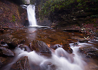 Courthouse Falls in winter, Pisgah National Forest