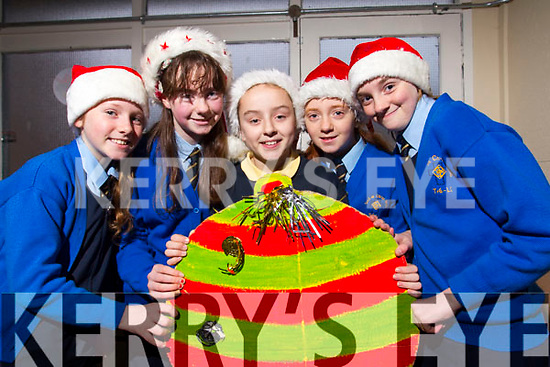 Students from Presentation Primary School, Tralee practicing for their Christmas play on Tuesday morning were l-r: Ava McGrath, Lia O'Connell Sarah Barrett Emma Buckley and Patricia Gutheridge