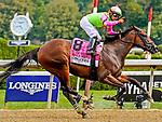 August 07, 2021: Bella Sofia #8, ridden by jockey Luis Saez wins the $500,000 Test Stakes (Grade 1) Saratoga Race Course in Saratoga Springs, N.Y. on August 7, 2021. Dan Heary/Eclipse Sportswire/CSM