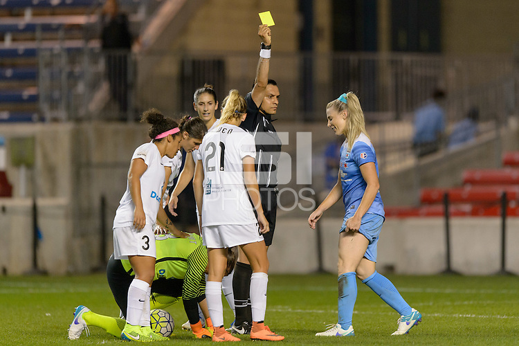 Chicago, IL - Wednesday Sept. 07, 2016: Julie Johnston during a regular season National Women's Soccer League (NWSL) match between the Chicago Red Stars and FC Kansas City at Toyota Park.
