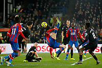 James McCarthy of Crystal Palace tries the spectacular during the Premier League match between Crystal Palace and Brighton and Hove Albion at Selhurst Park, London, England on 16 December 2019. Photo by Carlton Myrie / PRiME Media Images.