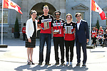 Mark Arendz, Brian McKeever, Kirsty Duncan, and Marc-Andre Fabien, PyeongChang 2018. <br />