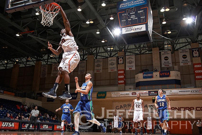 SAN ANTONIO, TX - NOVEMBER 23, 2013: The Texas A&M University Corpus Christi Islanders versus the University of Texas at San Antonio Roadrunners Men's Basketball at the UTSA Convocation Center. (Photo by Jeff Huehn)