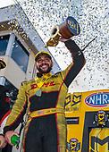 funny car, Camry, J.R. Todd, DHL, victory, celebration, trophy