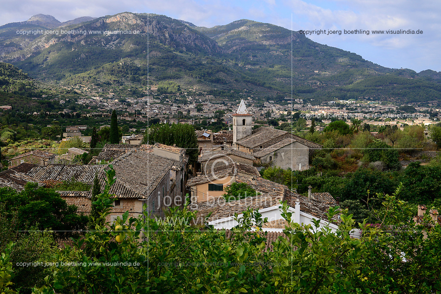 SPAIN Mallorca, Soller, farming in the mountains, orange trees / SPANIEN Mallorca, Soller, Landwirtschaft in den Bergen, Orangen