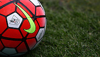 The Nike Ordem match ball with Premier League logo during the Barclays Premier League match between Swansea City and Liverpool played at the Liberty Stadium, Swansea on 1st May 2016