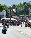 The break forms with Quinn Simmons (USA() Trek-Segafredo, Dimitri Claeys (BEL) Qhubeka NextHash, Stan Dewulf (BEL) AG2R-Citroën Team at the start of Stage 16 of La Vuelta d'Espana 2021, running 180km from Laredo to Santa Cruz de Bezana, Spain. 31st August 2021.     <br /> Picture: Cxcling   Cyclefile<br /> <br /> All photos usage must carry mandatory copyright credit (© Cyclefile   Cxcling)