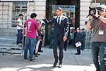 Real Madrid's Raphael Varane leaves Seat of Government in Madrid, May 22, 2017. Spain.<br /> (ALTERPHOTOS/BorjaB.Hojas)