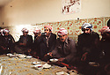 Iran 1979.Ziweh: Lunch in the house of Aref Yassin in the camp of Ziweh<br />