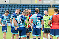 Team talk during the Wycombe Wanderers 2016/17 Team & Individual Squad Photos at Adams Park, High Wycombe, England on 1 August 2016. Photo by Jeremy Nako.