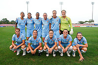 Sky Blue FC starting eleven. Sky Blue FC and FC Gold Pride played to a 1-1 tie during a Women's Professional Soccer (WPS) match at Yurcak Field in Piscataway, NJ, on September 01, 2010.
