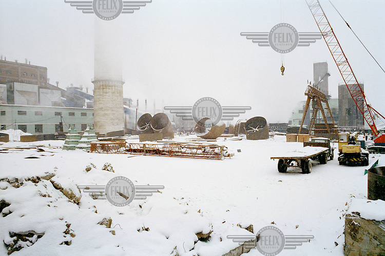 A new coal-fired power station under construction. China is in the process of building over 500 new coal power plants to meet the increasing energy demand.