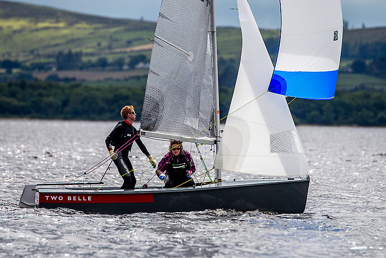 Ger Owens of Royal St George YC who will be crewed by EABC's Melanie Morris