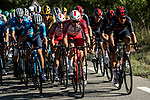 The peloton including Pierre Luc PERICHON (FRA) Cofidis and Andrey Amador (COR) Team Ineos Grenadiers take it easy during Stage 5 of Tour de France 2020, running 183km from Gap to Privas, France. 2nd September 2020.<br /> Picture: ASO/Alex Broadway   Cyclefile<br /> All photos usage must carry mandatory copyright credit (© Cyclefile   ASO/Alex Broadway)