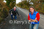 John Linehan and Cllr Bobby O'Connell are delighted with the laybys built on the road up to Glenaginnty in Ballymac