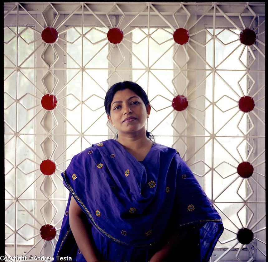 BANGLADESH. Dhaka. June 2005..Monira Rahman, Director of the Acid Survivors Foundation Hospital in Dhaka..©Andrew Testa