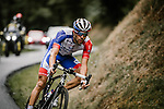 Thibaut Pinot (FRA) Groupama-FDJ descends during Stage 9 of Tour de France 2020, running 153km from Pau to Laruns, France. 6th September 2020. <br /> Picture: ASO/Pauline Ballet   Cyclefile<br /> All photos usage must carry mandatory copyright credit (© Cyclefile   ASO/Pauline Ballet)