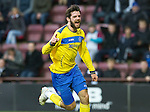 Hearts v St Johnstone...05.02.12.. Scottish Cup 5th Round.Cillian Sheridan celebrates his goal.Picture by Graeme Hart..Copyright Perthshire Picture Agency.Tel: 01738 623350  Mobile: 07990 594431