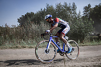 Florian Maitre (FRA/Total-Direct Energie)<br /> <br /> Antwerp Port Epic 2020 <br /> One Day Race: Antwerp to Antwerp 183km; of which 28km are cobbles and 35km is gravel/off-road<br /> Bingoal Cycling Cup 2020